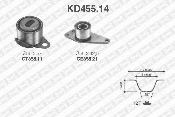 Комплект ремня ГРМ SNR KD455.14
