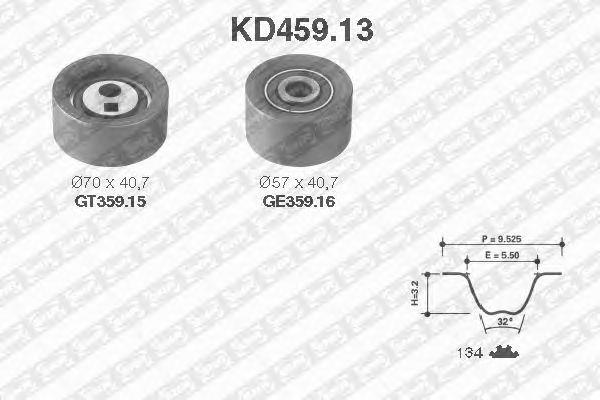 Комплект ремня ГРМ SNR KD459.13