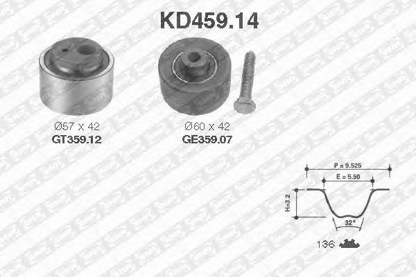Комплект ремня ГРМ SNR KD459.14