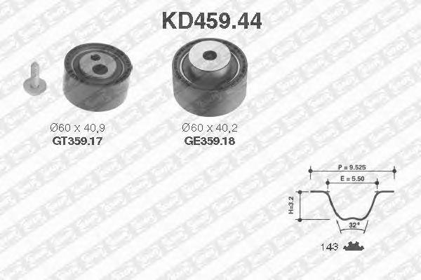 Комплект ремня ГРМ SNR KD459.44