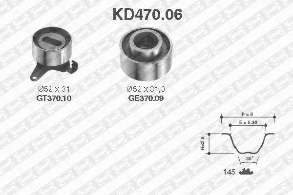 Комплект ремня ГРМ SNR KD470.06