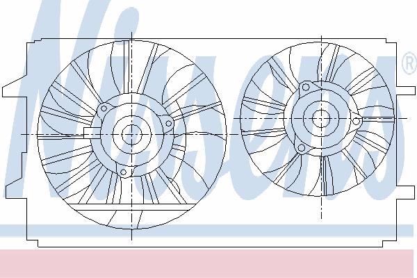 Вентилятор охлаждения NISSENS 85410
