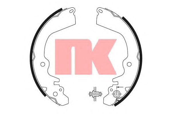 Тормозные колодки NK 2730568