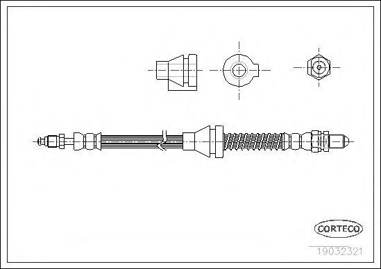Тормозной шланг CORTECO 19032321