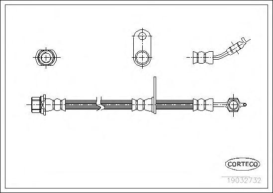 Тормозной шланг CORTECO 19032732