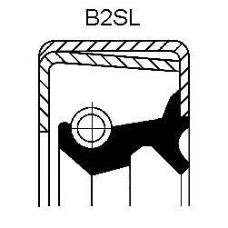 Уплотняющее кольцо CORTECO 12011415B (дифференциал, подшипник ступицы колеса)