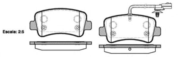 Тормозные колодки REMSA 1439.01