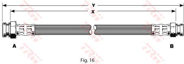 Тормозной шланг TRW PHA135