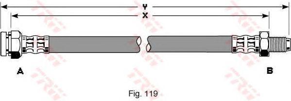 Тормозной шланг TRW PHB313