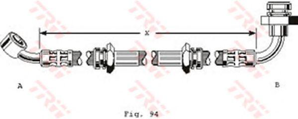 Тормозной шланг TRW PHD172