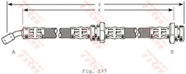 Тормозной шланг TRW PHD214