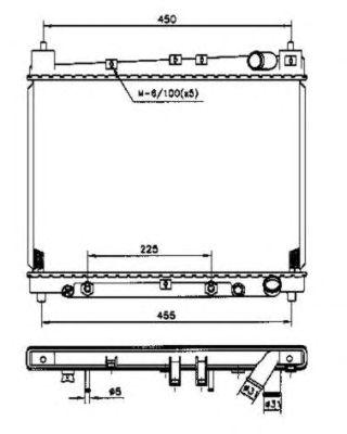 Радиатор, охлаждение двигателя NRF 53212