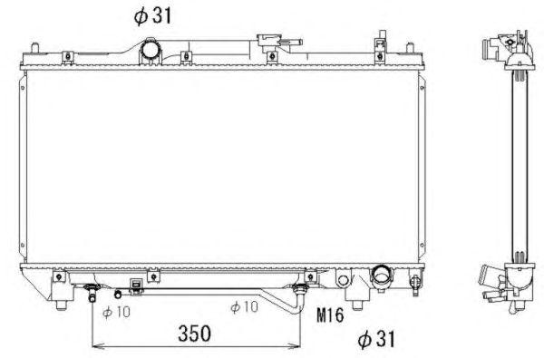 Радиатор, охлаждение двигателя NRF 53264