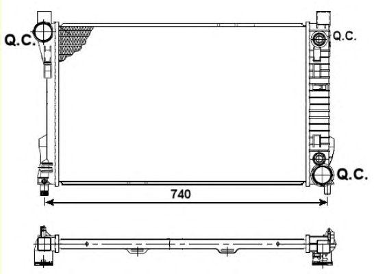 Радиатор, охлаждение двигателя NRF 53419