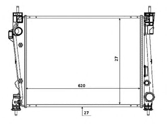 Радиатор, охлаждение двигателя NRF 53933