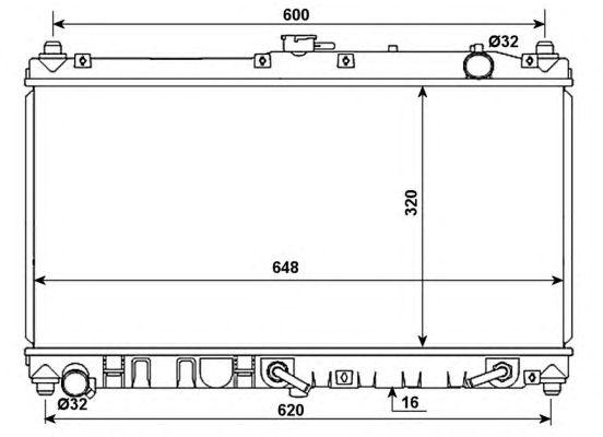 Радиатор, охлаждение двигателя NRF 53977