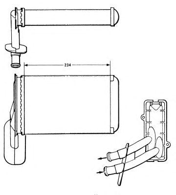 Радиатор отопителя NRF 58623