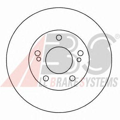 Тормозной диск A.B.S. 16040