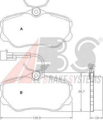 Тормозные колодки A.B.S. 36655