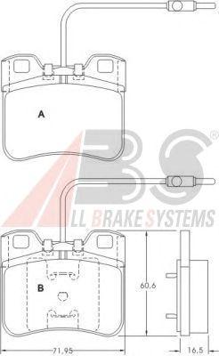 Тормозные колодки A.B.S. 36751