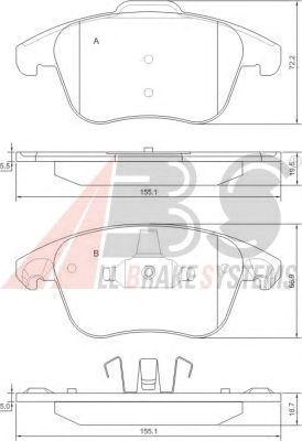 Тормозные колодки A.B.S. 37599