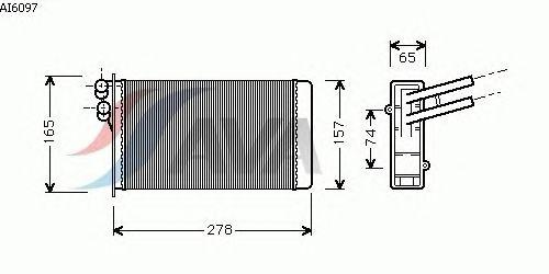 Радиатор отопителя AVA QUALITY COOLING AI6097