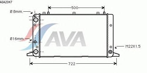 Радиатор, охлаждение двигателя AVA QUALITY COOLING AIA2047