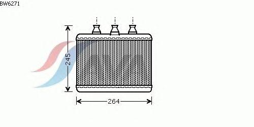 Радиатор отопителя AVA QUALITY COOLING BW6271