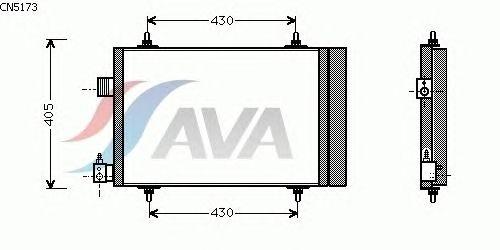 Радиатор кондиционера AVA QUALITY COOLING CN5173