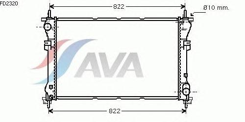 Радиатор, охлаждение двигателя AVA QUALITY COOLING FD2320