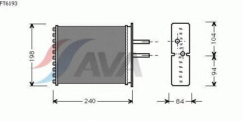 Радиатор отопителя AVA QUALITY COOLING FT6193