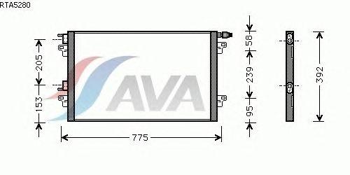 Радиатор кондиционера AVA QUALITY COOLING RTA5280
