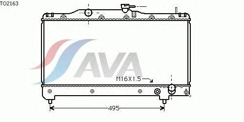 Радиатор, охлаждение двигателя AVA QUALITY COOLING TO2163