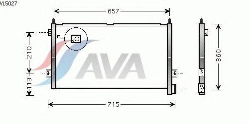 Радиатор кондиционера AVA QUALITY COOLING VL5027
