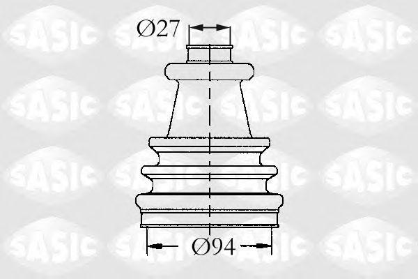 Комплект пыльника ШРУСа SASIC 4003417