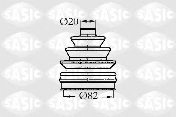 Комплект пыльника ШРУСа SASIC 2933833