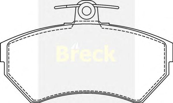 Тормозные колодки BRECK 21945 00 701 00