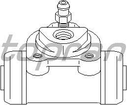 Колесный тормозной цилиндр TOPRAN 700 549