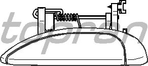 Ручка двери TOPRAN 700 558