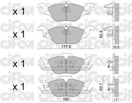 Тормозные колодки CIFAM 822-257-0