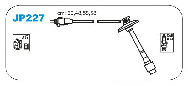 Комплект высоковольтных проводов JANMOR JP227