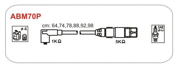 Комплект высоковольтных проводов JANMOR ABM70P