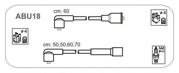 Комплект высоковольтных проводов JANMOR ABU18