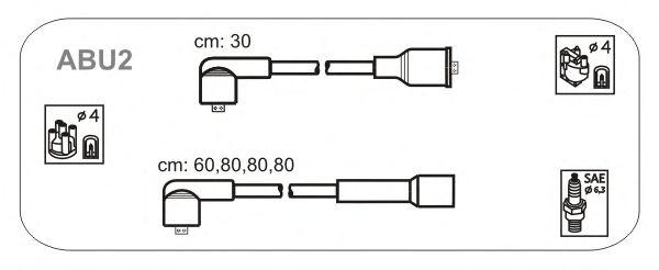 Комплект высоковольтных проводов JANMOR ABU2