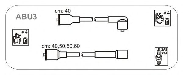 Комплект высоковольтных проводов JANMOR ABU3