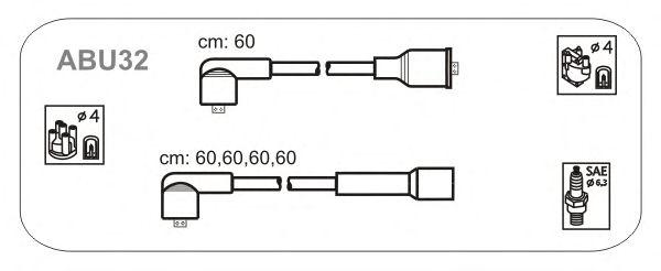 Комплект высоковольтных проводов JANMOR ABU32