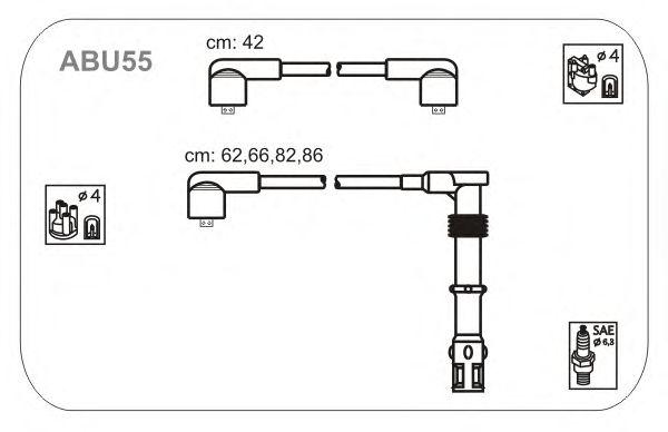 Комплект высоковольтных проводов JANMOR ABU55