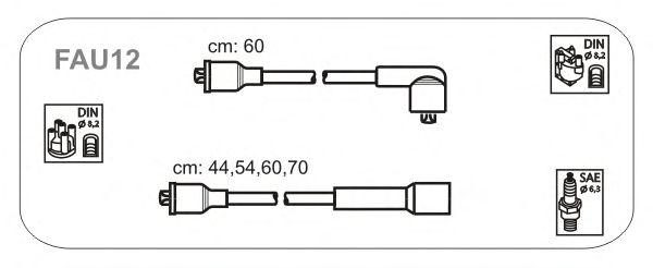 Комплект высоковольтных проводов JANMOR FAU12