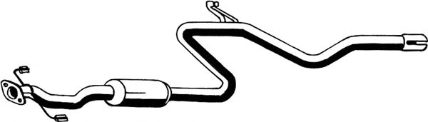 Труба выхлопного газа ASMET 14.022