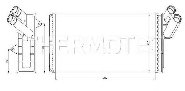 Радиатор отопителя THERMOTEC D6P004TT